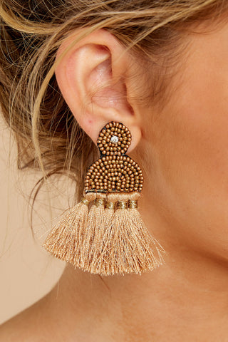 Call The Night Tan Earrings