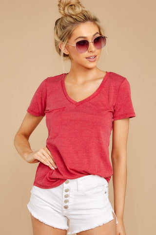 Pocket Tee In Jester Red