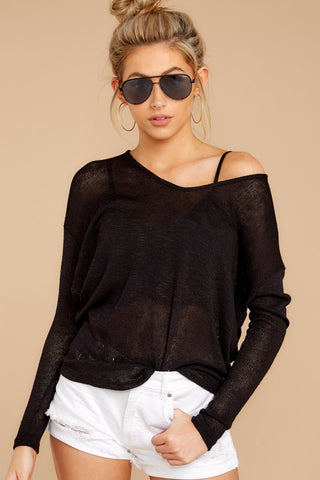 A Night In Black Knit Top