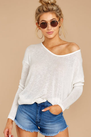 A Night In Ivory Knit Top