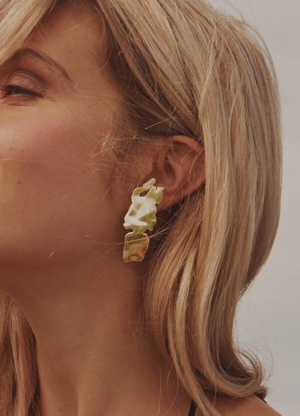 Suomenlinna Earrings in Gold