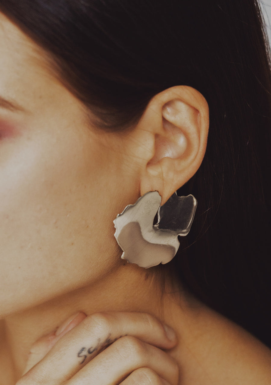 Krokskär Earrings in Silver