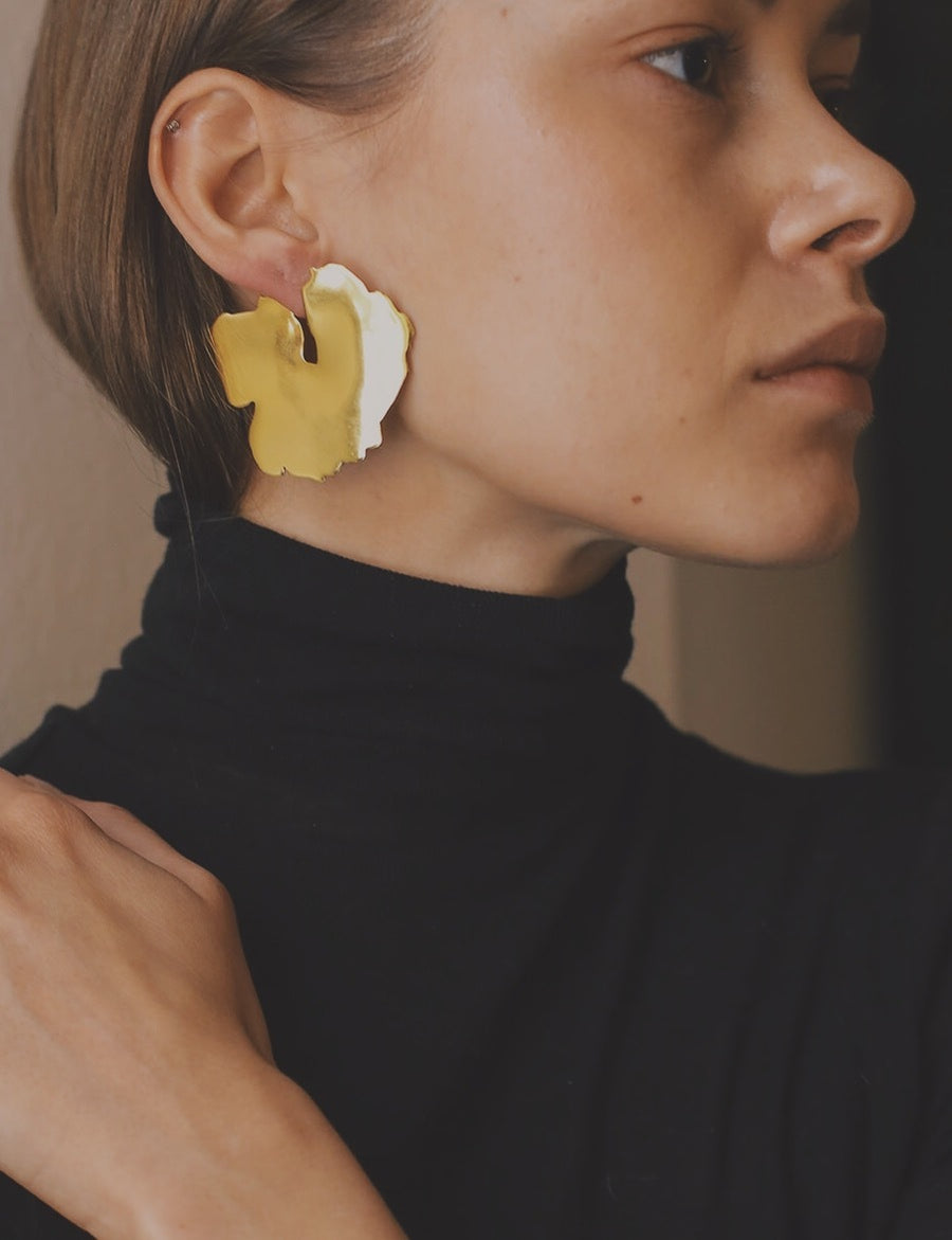 Krokskär Earrings in Gold