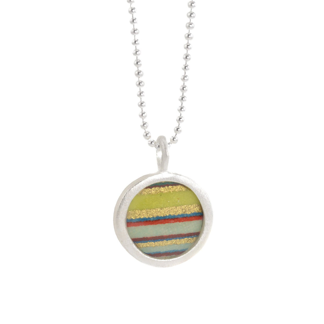 Flat Circle Necklace in Multiple Colors by Susan Fleming