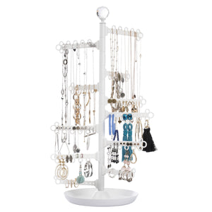 Jewelry Organizer ~ 12-Tier Stand ~ White