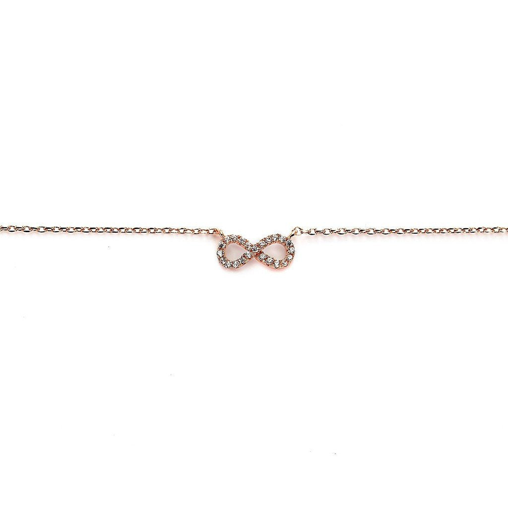 Infinity Charm Rose Gold Plated Necklace