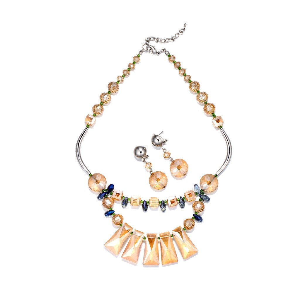 Luxe Swiss Crystals Necklace Set