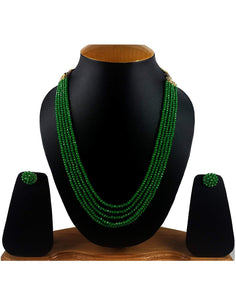 Light Green Crystal Beads Multi-Strand Necklace Set