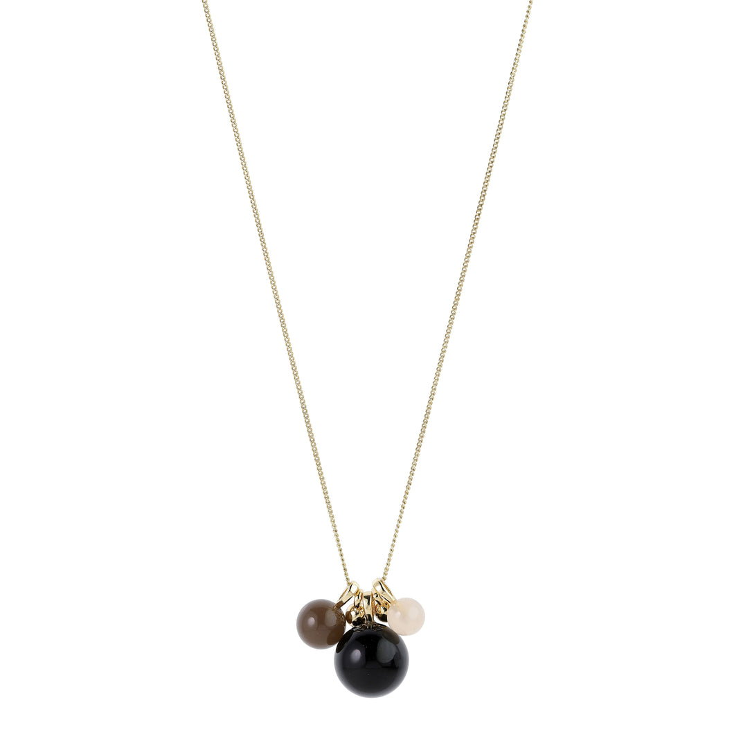 Necklace : Freya : Gold Plated : Black