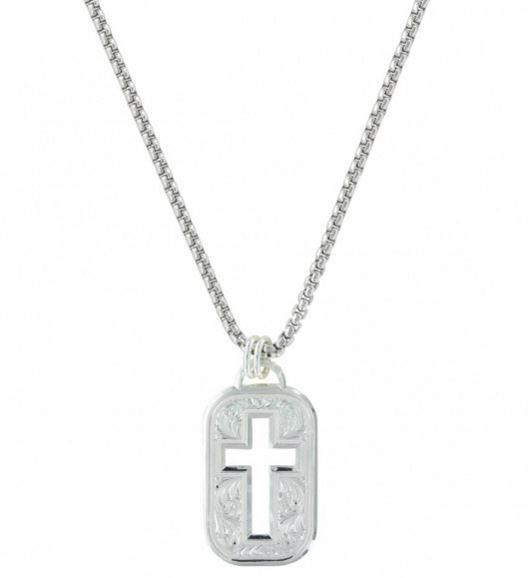 Montana Silversmiths Cross Cut Out Token Necklace