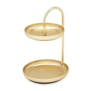 Poise Two Tier Ring Dish Brass