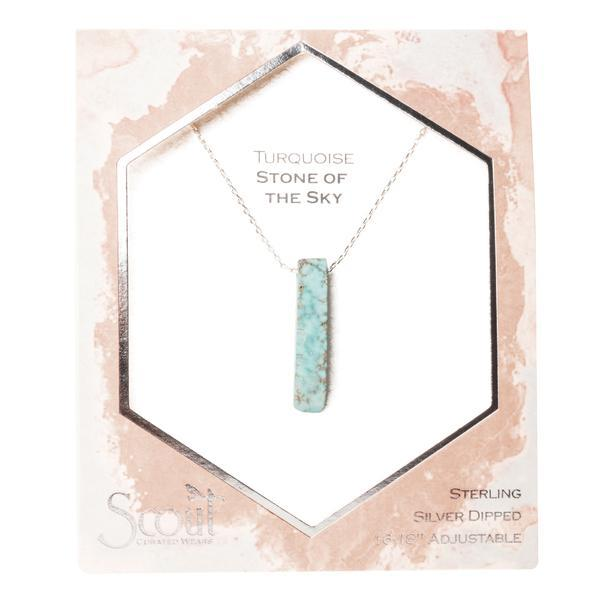 Scout Curated Wears Stone Point Necklace - Turquoise/Silver/Stone of the Sky