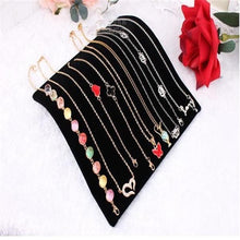Load image into Gallery viewer, Velvet Necklace Chain Pendant Display Jewelry Organizer Stand Holder