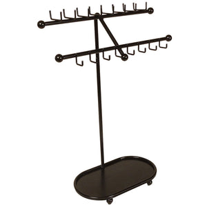 Great designers impressions jr21 orb oil rubbed bronze tree organizer free standing necklace holder jewelry display rack with tray