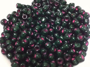 Fuchsia Lined Dark Green 6/0 (23/210) Qty: 10 grams