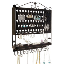Load image into Gallery viewer, Shop here designers impressions jr20 orb oil rubbed bronze wall mounted organizer necklace holder earring jewelry display rack with tray