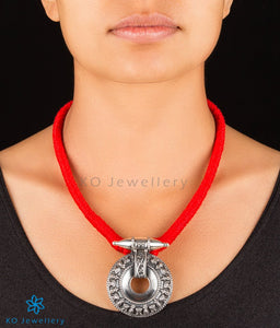 The Chakra Silver Necklace (Red)
