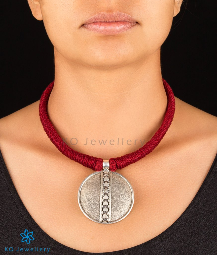 The Drishya Silver Necklace