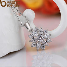 Load image into Gallery viewer, White Gold Color Necklaces Pendants with White AAA Cubic Zirconia