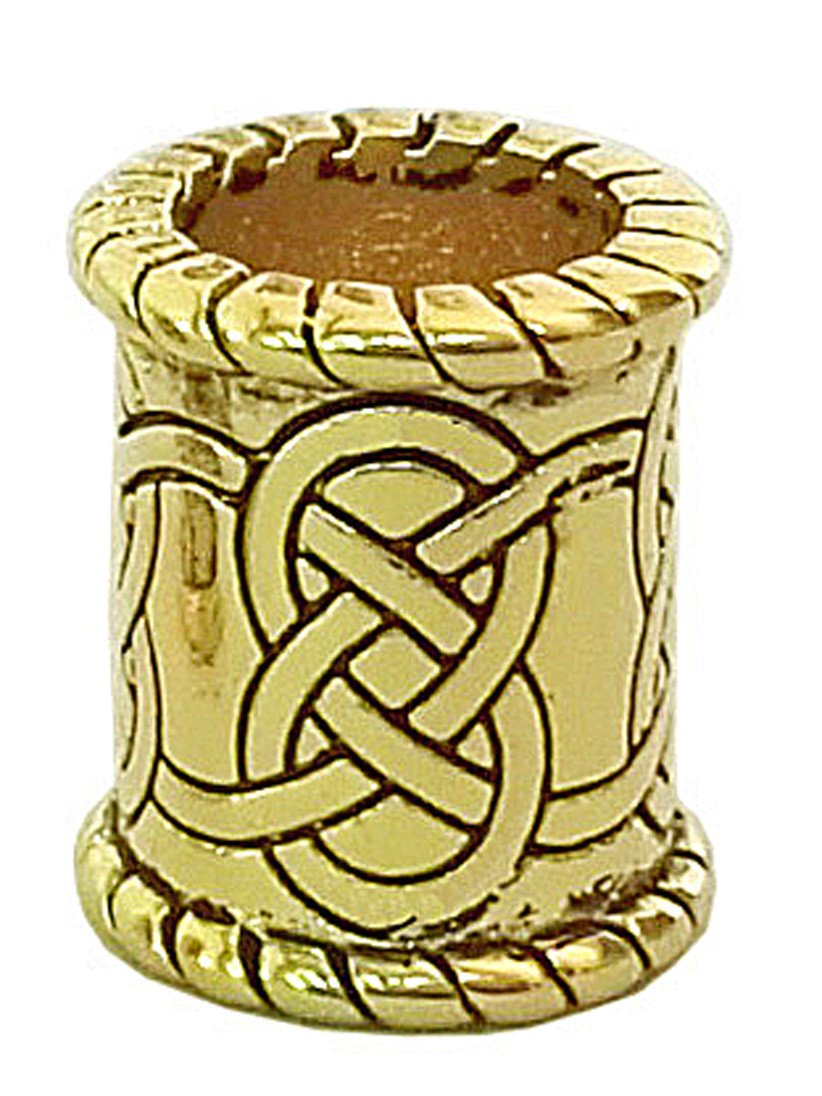 New! Celtic Strength Hair Bead - Gold Wide