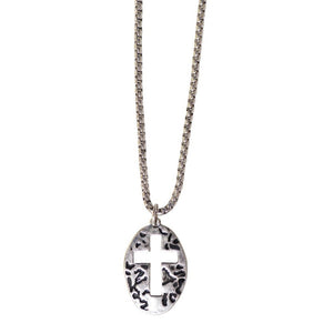 Faith Gear® Guy's Necklace - Oval Cross