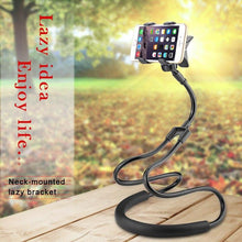Load image into Gallery viewer, !ACCEZZ Lazy Rotate Adjustable Universal Long Arm Phone Stand Holder For iPhone Xiaomi Huawei Bed/Desktop/Neck Hanging Bracket