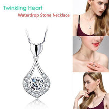 Load image into Gallery viewer, Twinkling Heart Waterdrop Stone Necklace-BUY 1 & GET 1 FREE TODAY!
