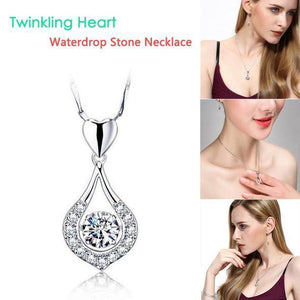 Twinkling Heart Waterdrop Stone Necklace-BUY 1 & GET 1 FREE TODAY!