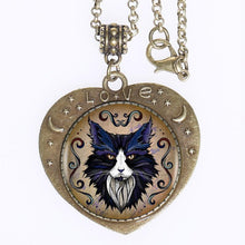 Load image into Gallery viewer, New Wolf Heart shaped Necklace!!!