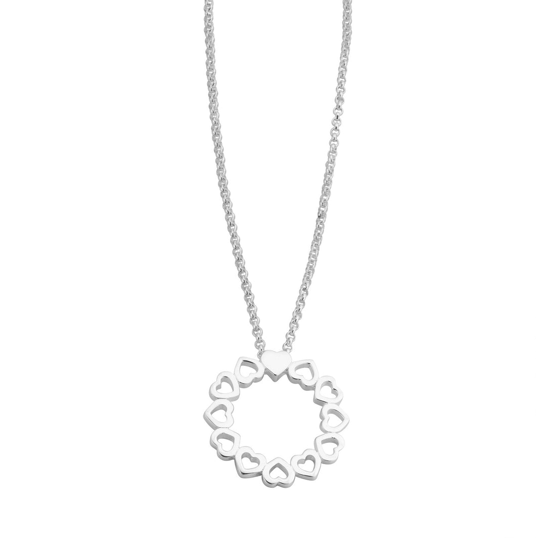 Love Goes Round Circle Necklace (2 options)
