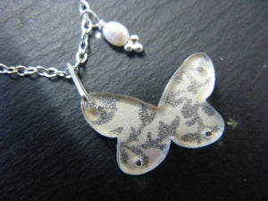 Small Butterfly Design Reversible Necklace