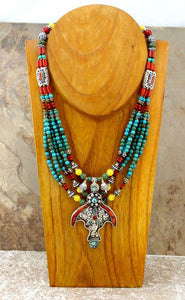 The Turquoise Tibetan Silver Necklace