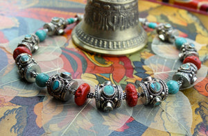 Traditional Coral and Turquoise Necklace