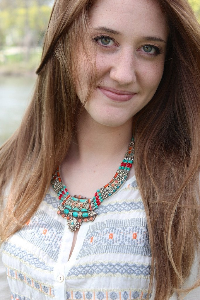 One of a Kind Turquoise and Sherpa Coral Karma Necklace