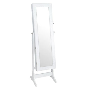 Mirror Jewellery Cabinet Storage 146cm White