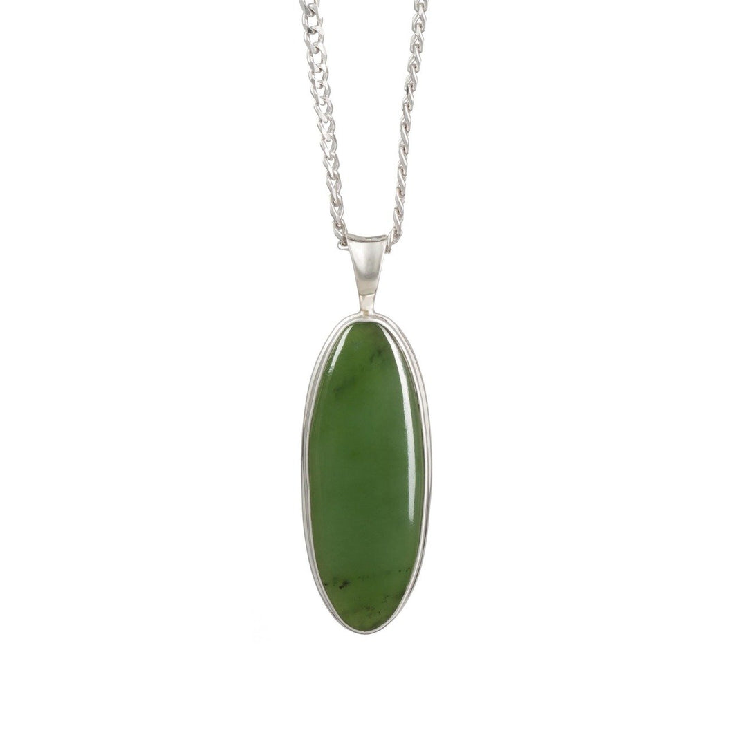 New Zealand Pounamu Medium Oval Necklace
