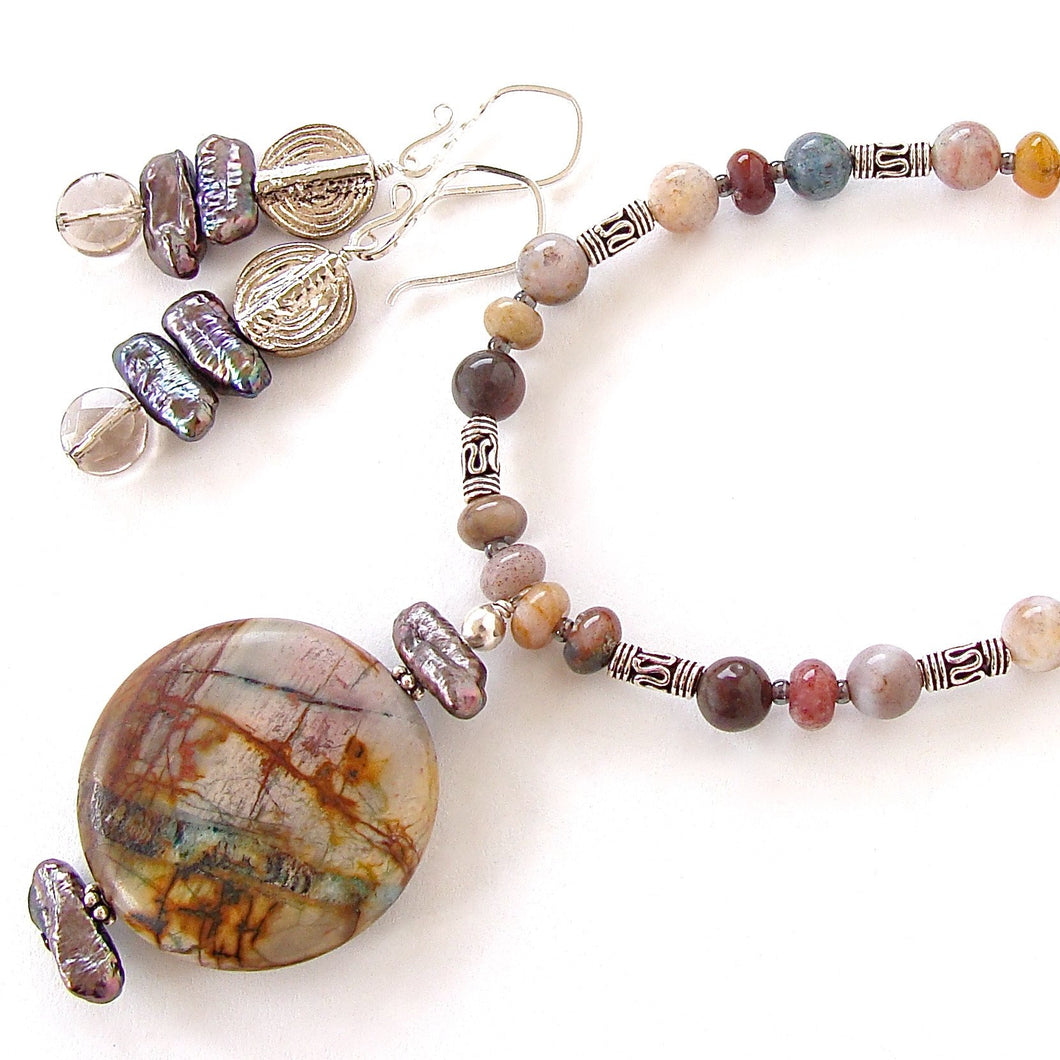 Paz: Natural Stone Jewelry with Jasper Pendant