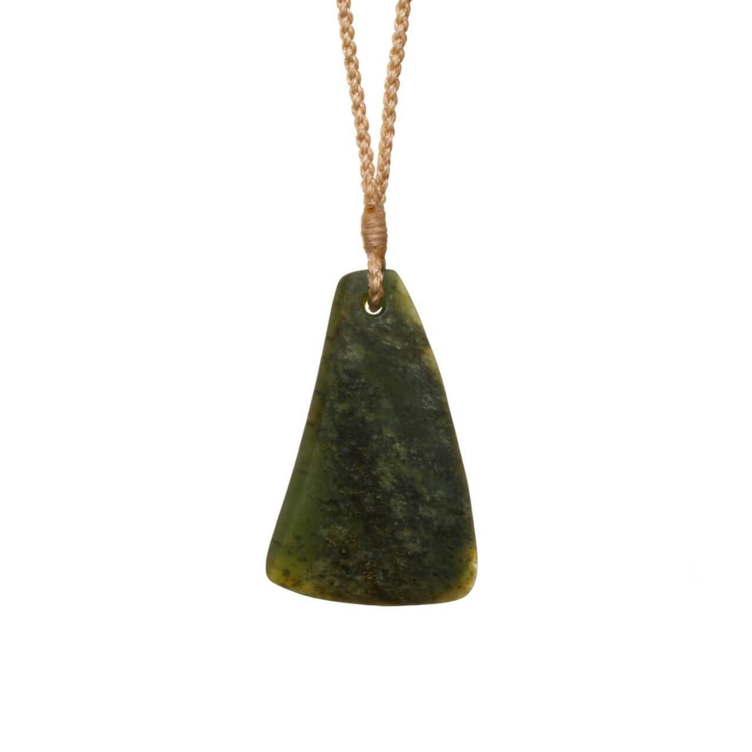 New Zealand Pounamu Triangular Drop Necklace
