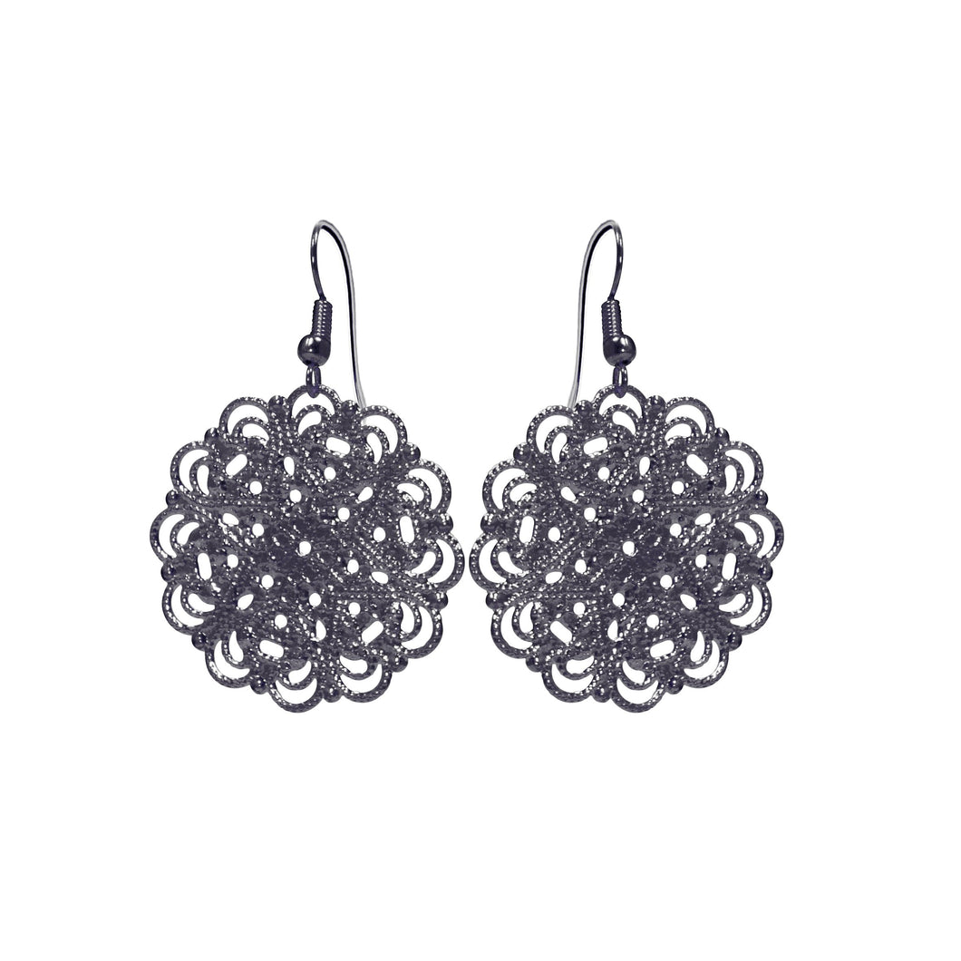 Lacey Black Earrings