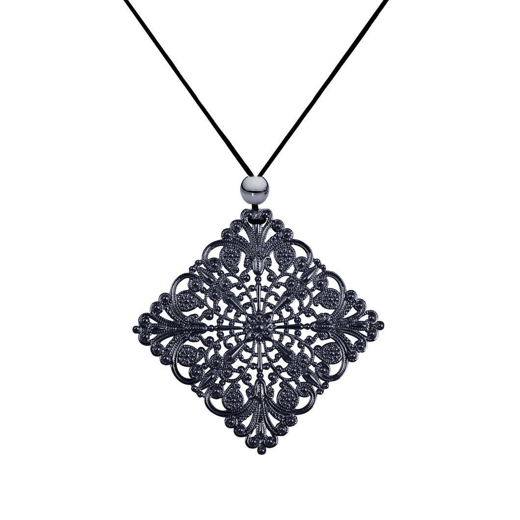 Lacey Diamond Black Necklace