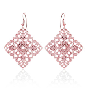 Lacey Diamond Rose Gold Earrings