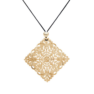 Lacey Diamond Yellow Gold Necklace