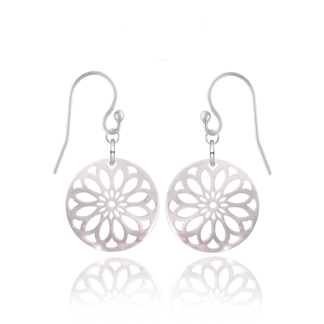 Mère Large White Earrings