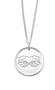 My Mother Hand on my Heart Necklace