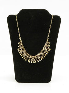 Gold Plated Mesh Rhinestones Necklace NC0296