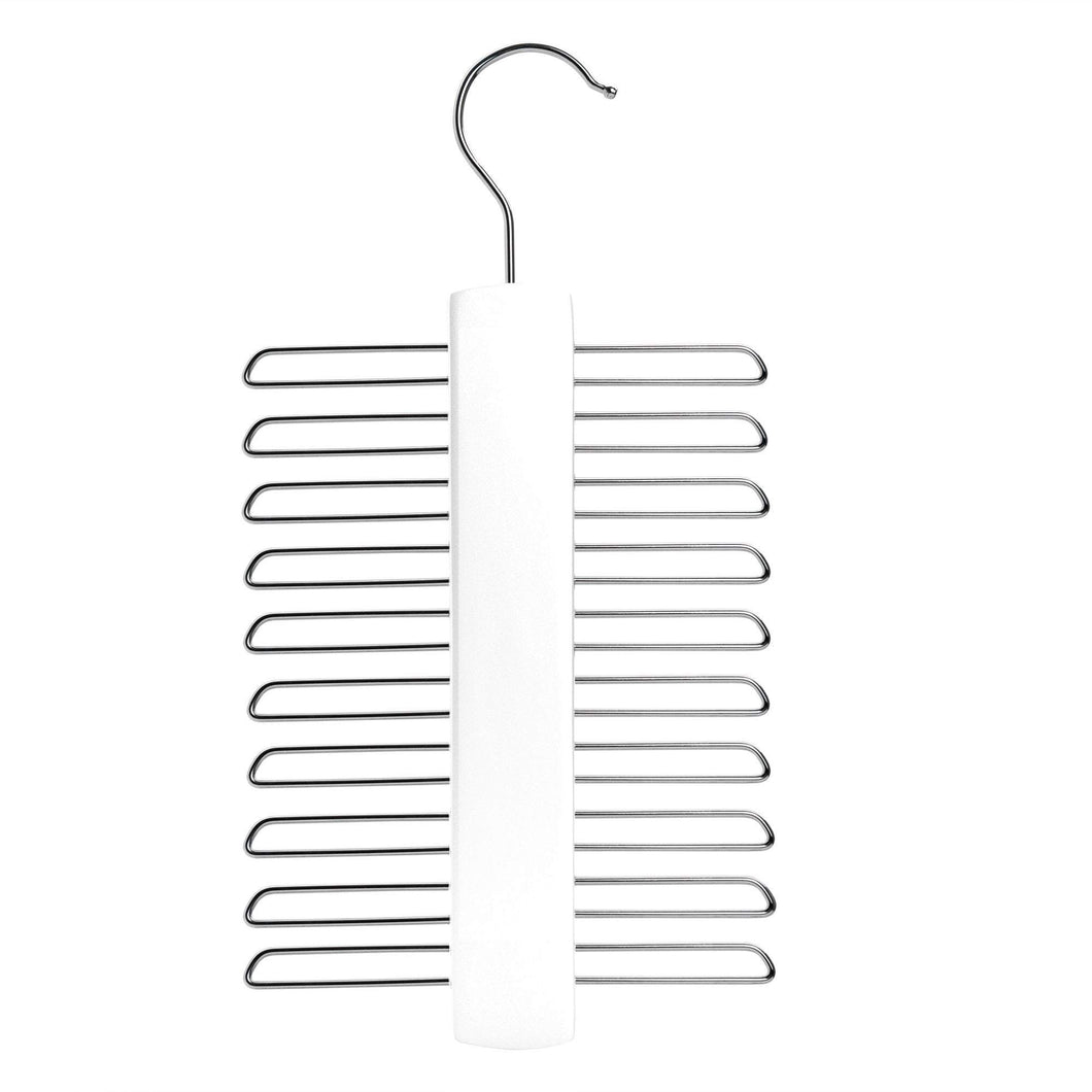 Nicholas Winter Wooden Tie / Belt / Scarf Hanger - White