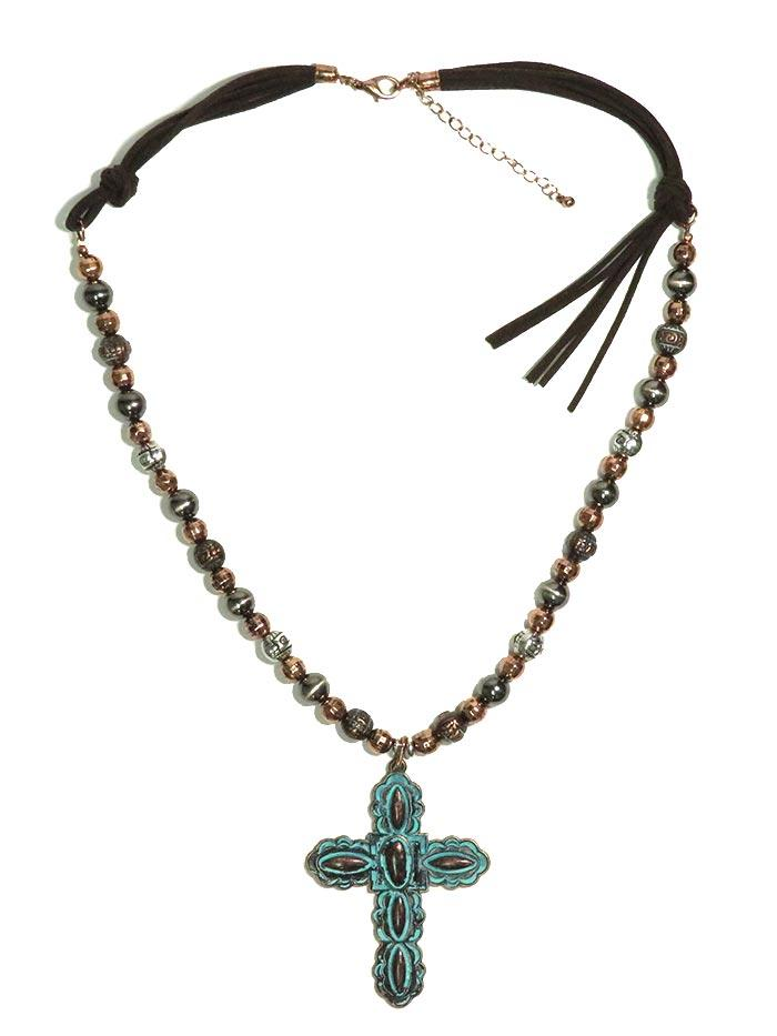 Turquoise Cross Necklace NC50053