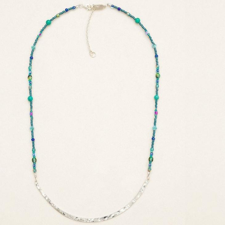 Necklace - Peacock Meridian - Silver - 11213