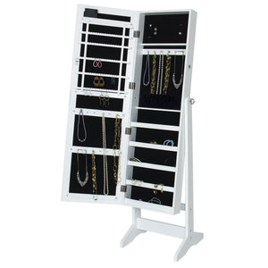 Mirrored Jewelry Armoire Cabinet w/ LED Lights