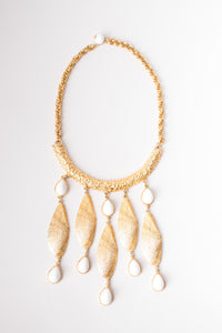 Shell Waterfall Collar Necklace
